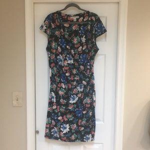 Plus sized wrap around dress